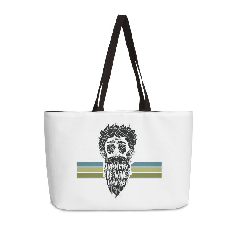 Stripey Hop Eyed Guy Accessories Weekender Bag Bag by Harmony Brewing Company