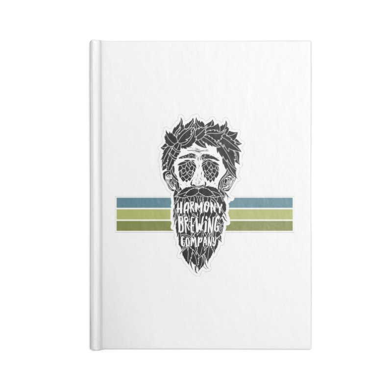 Stripey Hop Eyed Guy Accessories Notebook by Harmony Brewing Company
