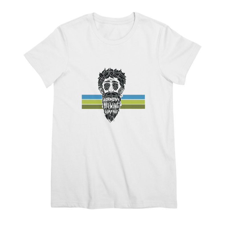 Stripey Hop Eyed Guy Women's Premium T-Shirt by Harmony Brewing Company