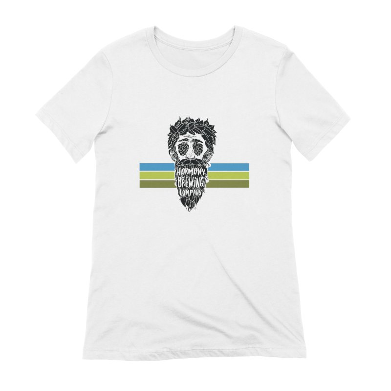 Stripey Hop Eyed Guy Women's Extra Soft T-Shirt by Harmony Brewing Company