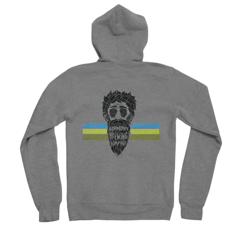 Stripey Hop Eyed Guy Women's Zip-Up Hoody by Harmony Brewing Company