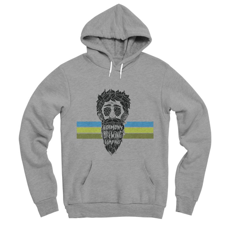 Stripey Hop Eyed Guy Men's Sponge Fleece Pullover Hoody by Harmony Brewing Company