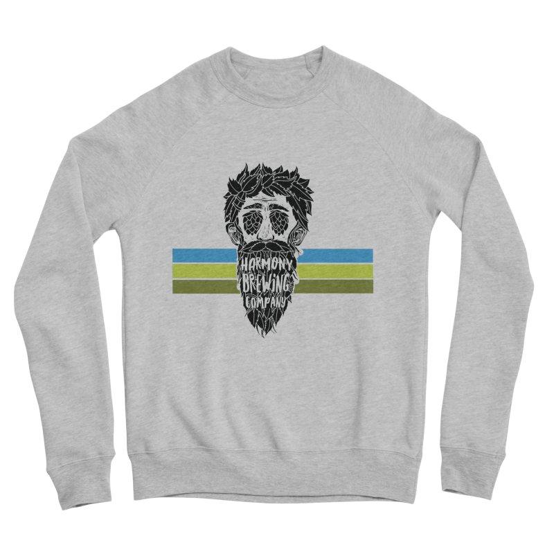 Stripey Hop Eyed Guy Women's Sponge Fleece Sweatshirt by Harmony Brewing Company