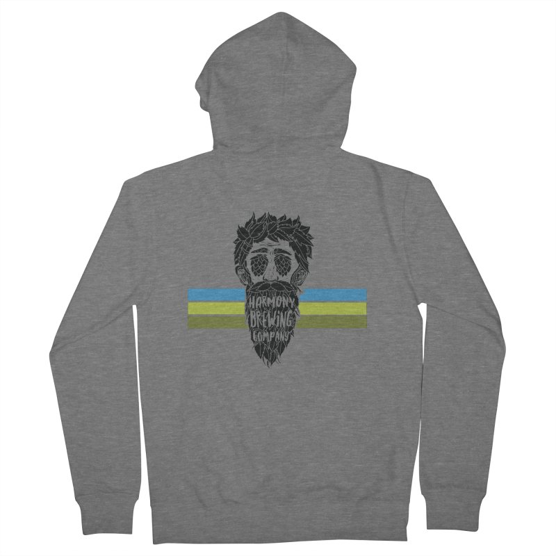 Stripey Hop Eyed Guy Men's Zip-Up Hoody by Harmony Brewing Company