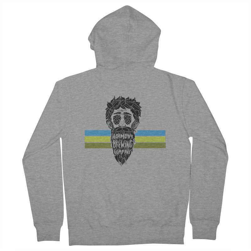 Stripey Hop Eyed Guy Men's French Terry Zip-Up Hoody by Harmony Brewing Company