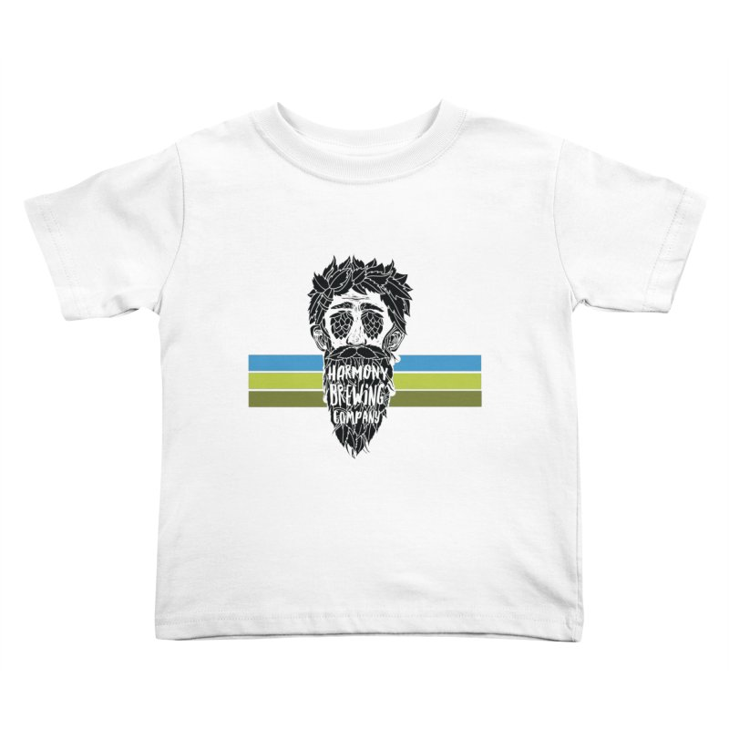 Stripey Hop Eyed Guy Kids Toddler T-Shirt by Harmony Brewing Company