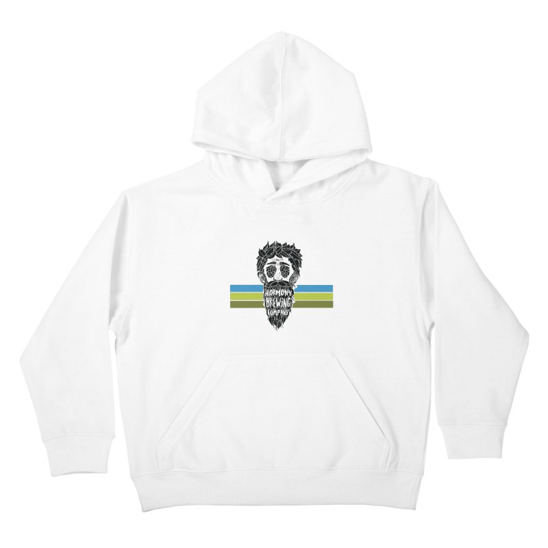 Stripey Hop Eyed Guy Kids Pullover Hoody by Harmony Brewing Company