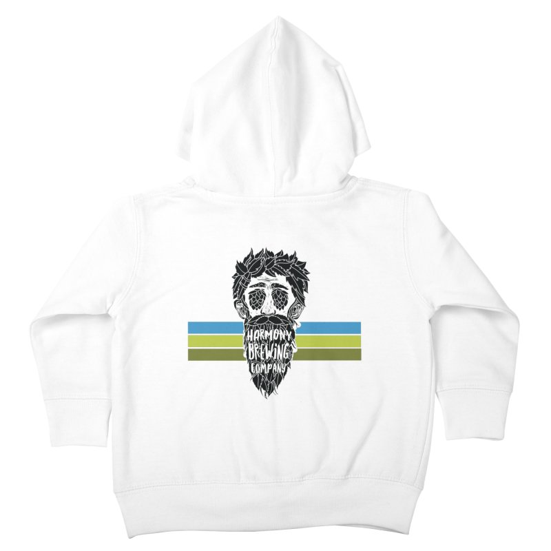 Stripey Hop Eyed Guy Kids Toddler Zip-Up Hoody by Harmony Brewing Company