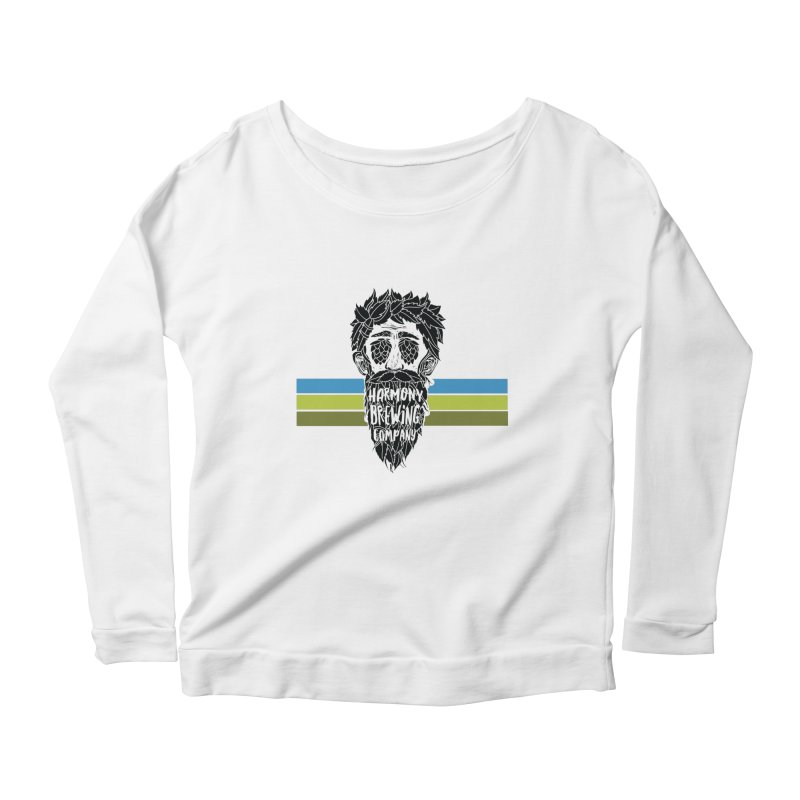 Stripey Hop Eyed Guy Women's Scoop Neck Longsleeve T-Shirt by Harmony Brewing Company