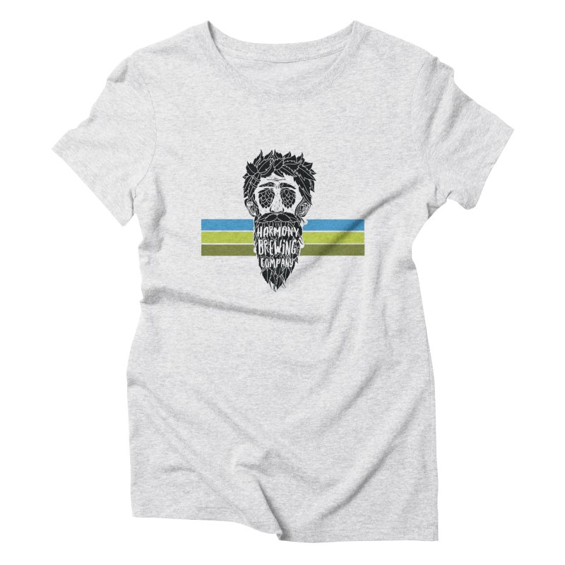 Stripey Hop Eyed Guy Women's Triblend T-Shirt by Harmony Brewing Company