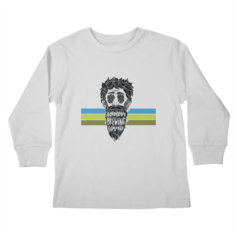 Stripey Hop Eyed Guy Kids Longsleeve T-Shirt by Harmony Brewing Company