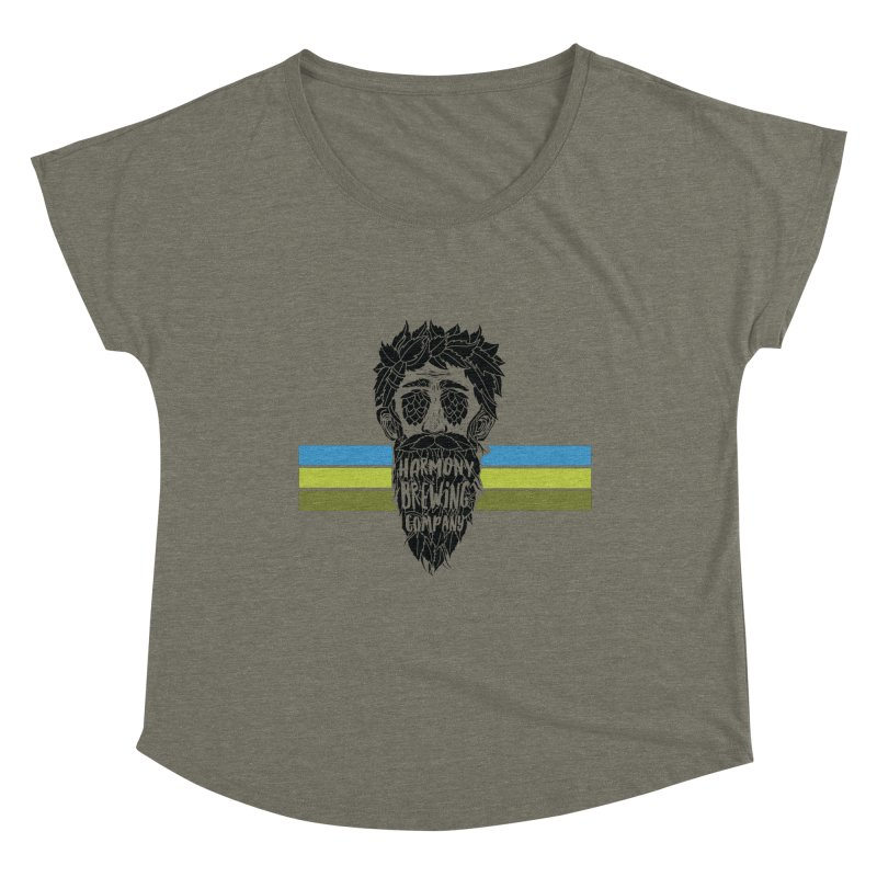 Stripey Hop Eyed Guy Women's Scoop Neck by Harmony Brewing Company