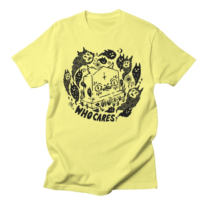 Oh, who cares? Men's Regular T-Shirt by Haypeep's Artist Shop