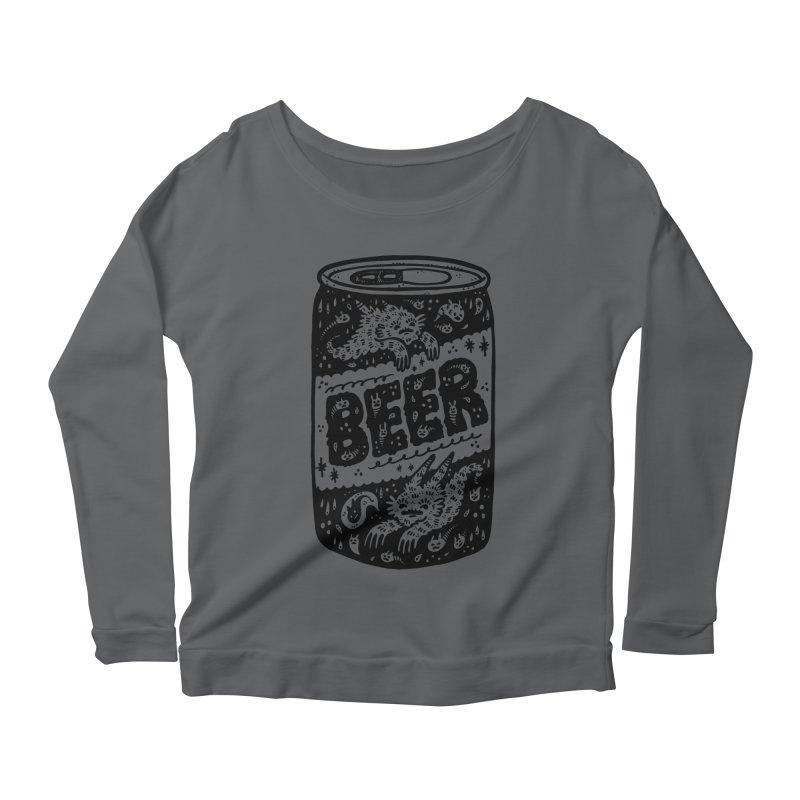 Beer can Women's Scoop Neck Longsleeve T-Shirt by Haypeep's Artist Shop
