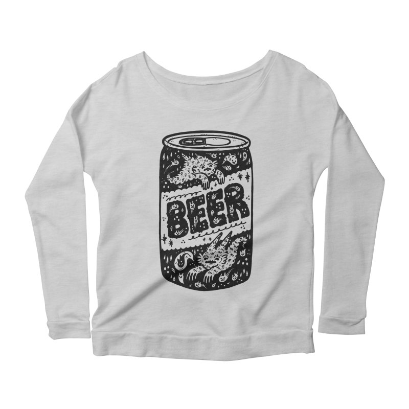 Beer can Women's Scoop Neck Longsleeve T-Shirt by Haypeep's Artist Shop