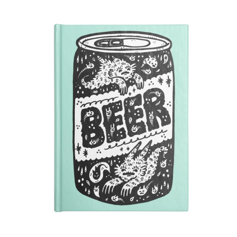 Beer can (white inside) Accessories Lined Journal Notebook by Haypeep's Artist Shop