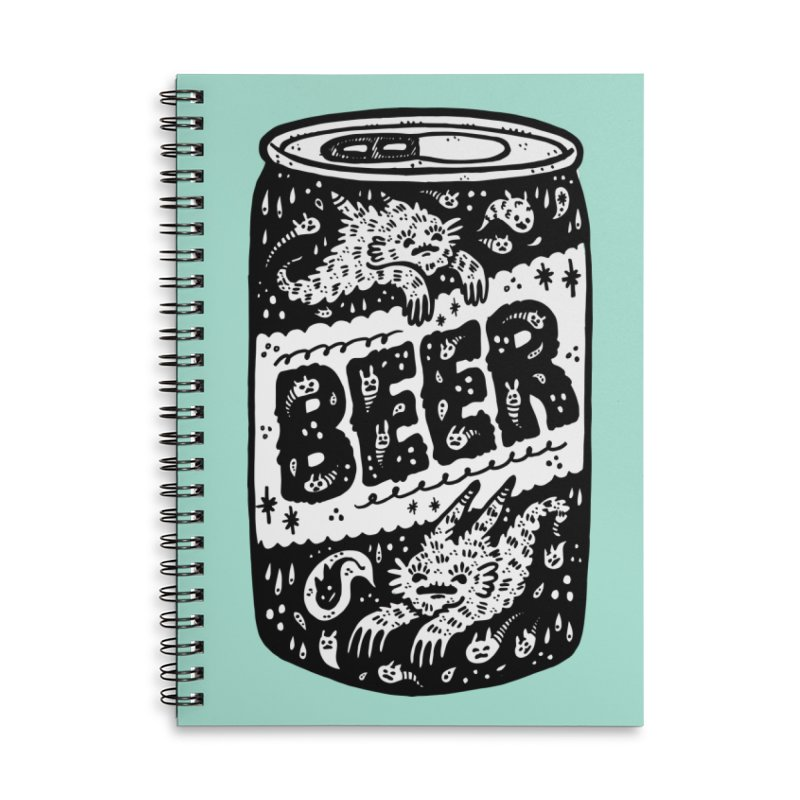 Beer can (white inside) Accessories Lined Spiral Notebook by Haypeep's Artist Shop