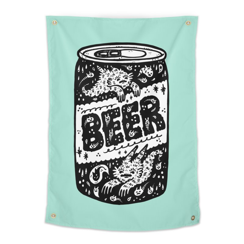 Beer can (white inside) Home Tapestry by Haypeep's Artist Shop