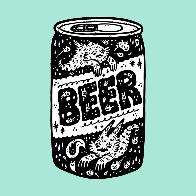 Beer can (white inside) Accessories Beach Towel by Haypeep's Artist Shop