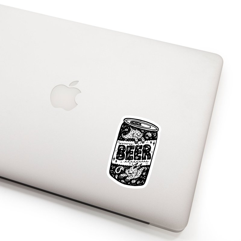 Beer can (white inside) Accessories Sticker by Haypeep's Artist Shop