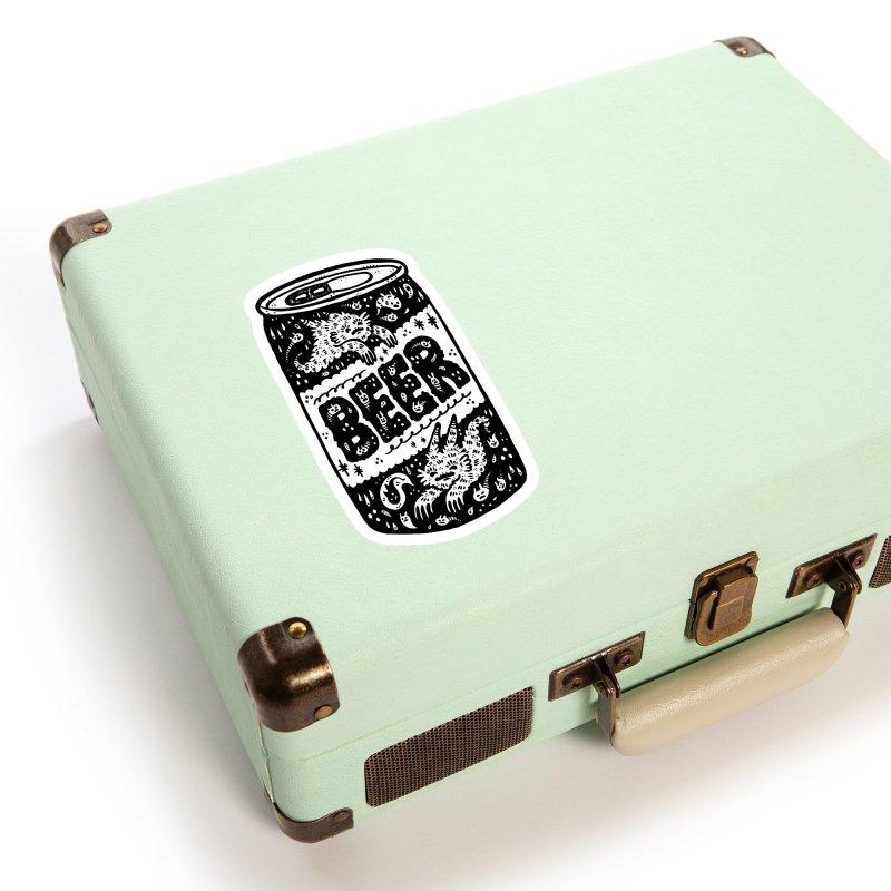 Beer can (white inside) Accessories Sticker by Haypeep's Artist Shop