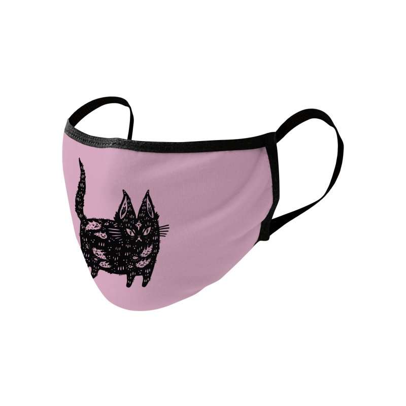 Fatty cat Accessories Face Mask by Haypeep's Artist Shop