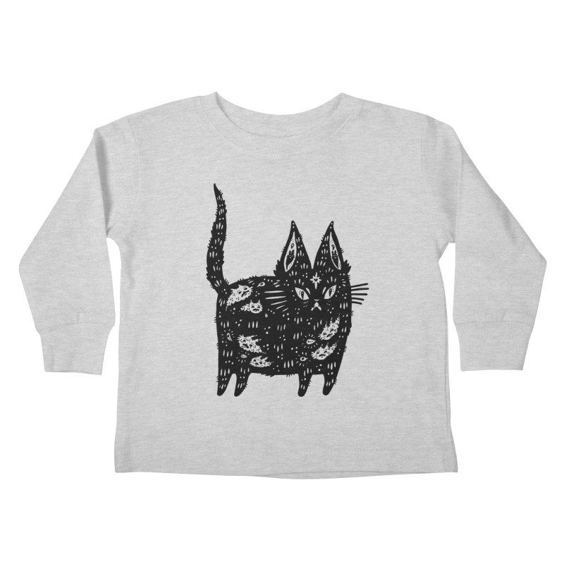 Fatty cat Kids Toddler Longsleeve T-Shirt by Haypeep's Artist Shop
