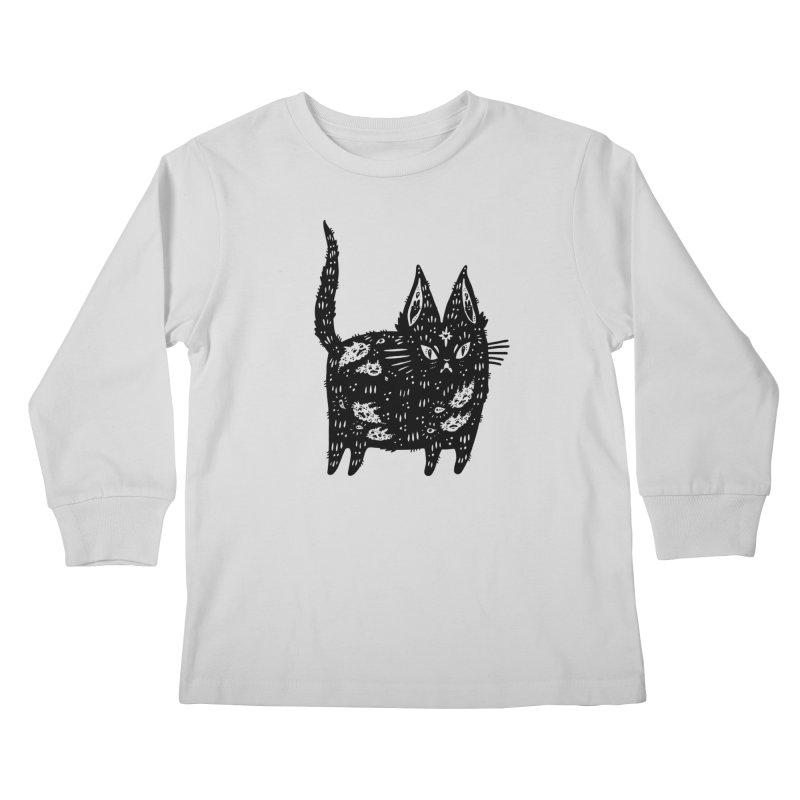 Fatty cat Kids Longsleeve T-Shirt by Haypeep's Artist Shop
