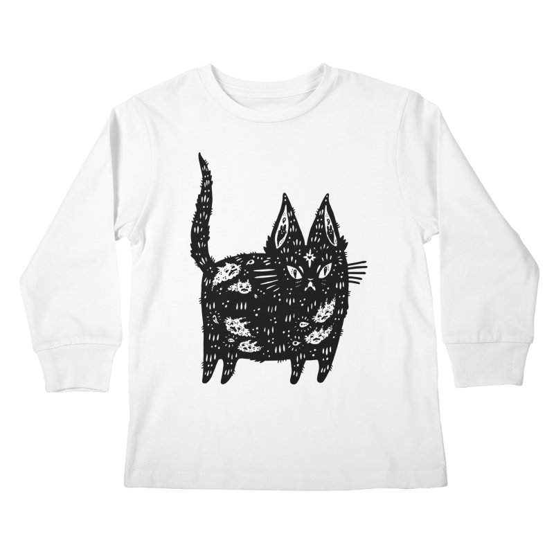 Fatty cat Kids Longsleeve T-Shirt by Haypeep's Artist Shop