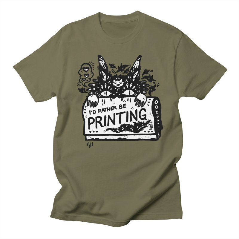 I'd Rather Be Printing (white inside) Men's T-Shirt by Haypeep's Artist Shop