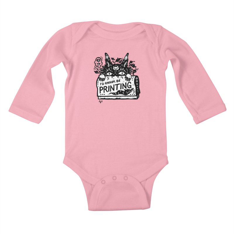 I'd Rather Be Printing (white inside) Kids Baby Longsleeve Bodysuit by Haypeep's Artist Shop