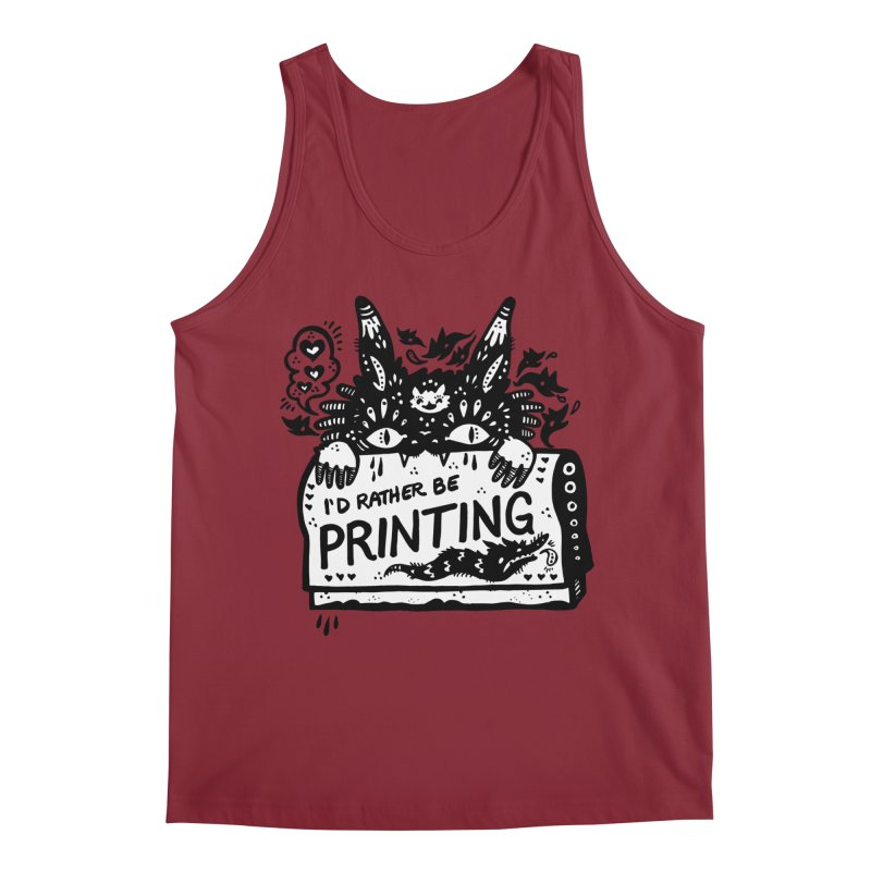 I'd Rather Be Printing (white inside) Men's Tank by Haypeep's Artist Shop