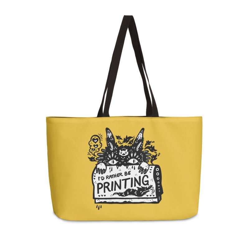 I'd Rather Be Printing (white inside) Accessories Bag by Haypeep's Artist Shop