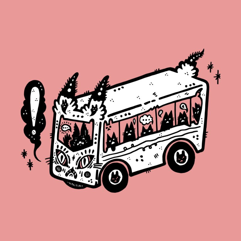 Silly bus (syllabus?), white background, no text Accessories Sticker by Haypeep's Artist Shop