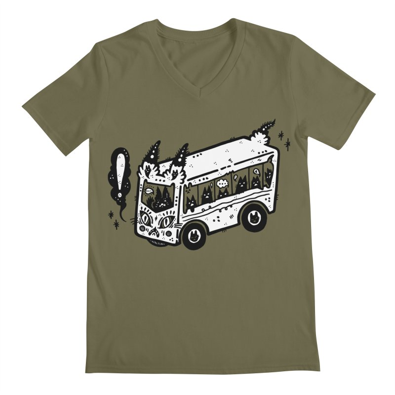Silly bus (syllabus?), white background, no text Men's V-Neck by Haypeep's Artist Shop