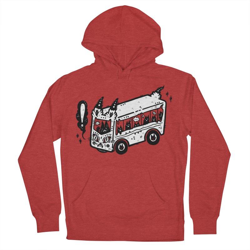 Silly bus (syllabus?), white background, no text Men's French Terry Pullover Hoody by Haypeep's Artist Shop