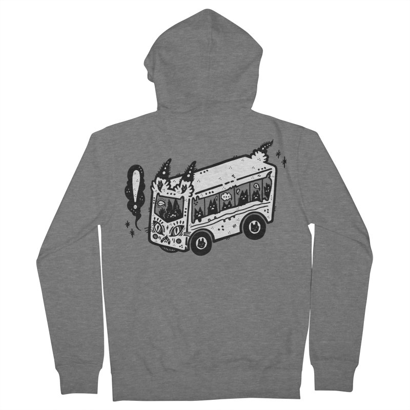 Silly bus (syllabus?), white background, no text Men's French Terry Zip-Up Hoody by Haypeep's Artist Shop
