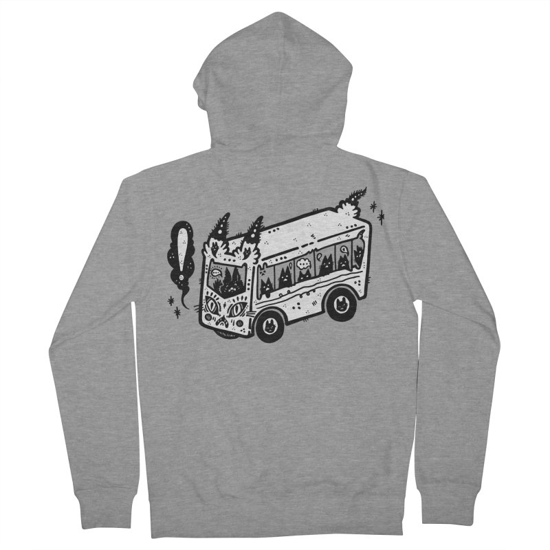Silly bus (syllabus?), white background, no text Men's Zip-Up Hoody by Haypeep's Artist Shop