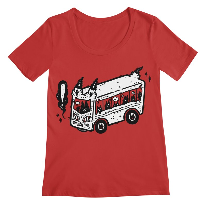 Silly bus (syllabus?), white background, no text Women's Regular Scoop Neck by Haypeep's Artist Shop