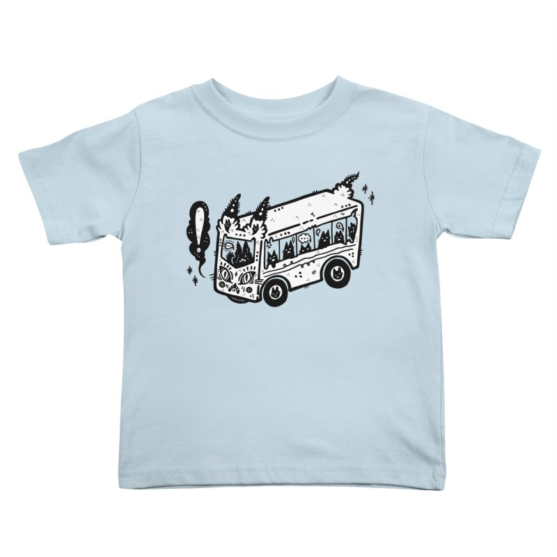 Silly bus (syllabus?), white background, no text Kids Toddler T-Shirt by Haypeep's Artist Shop