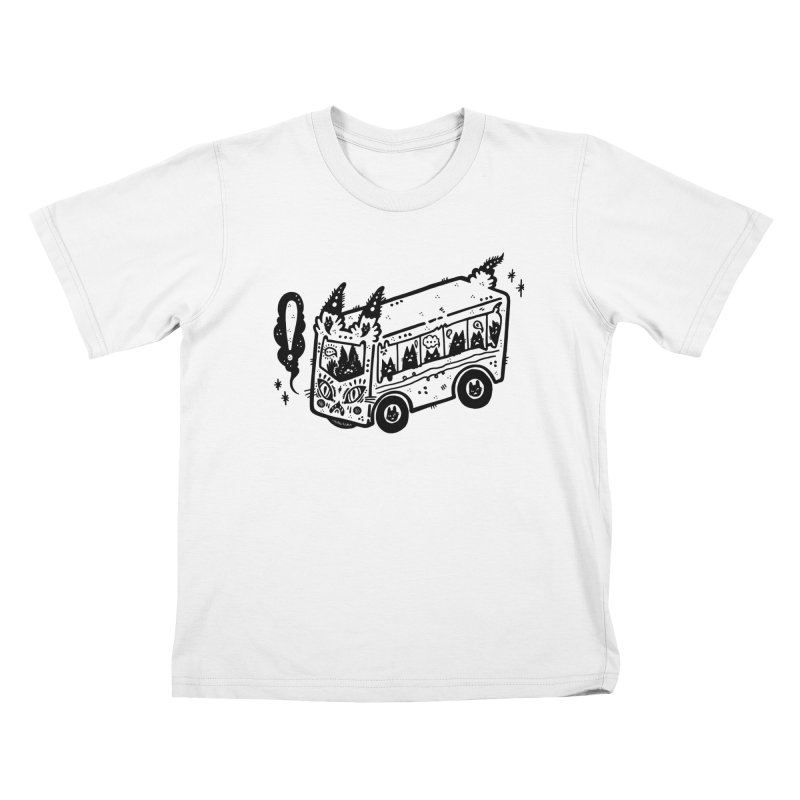 Silly bus (syllabus?), white background, no text Kids T-Shirt by Haypeep's Artist Shop