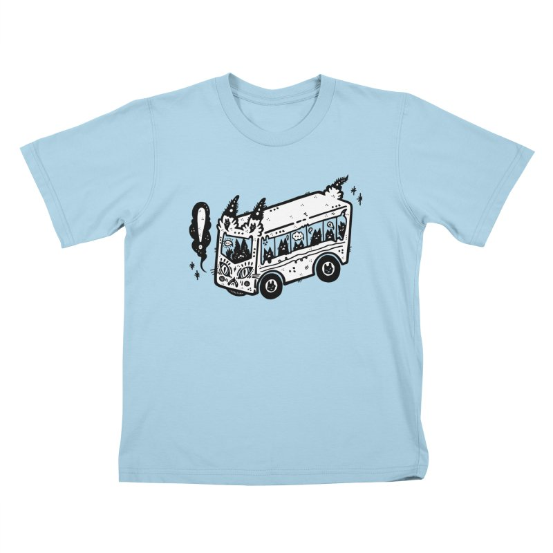 Silly bus (syllabus?), white background, no text Kids T-Shirt by Haypeep's Artist Shop