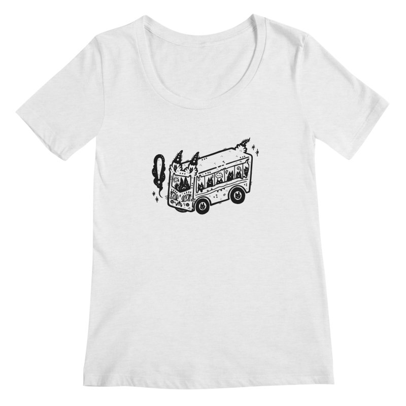Silly bus (syllabus?), white background, no text Women's Scoop Neck by Haypeep's Artist Shop