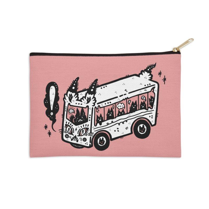 Silly bus (syllabus?), white background, no text Accessories Zip Pouch by Haypeep's Artist Shop