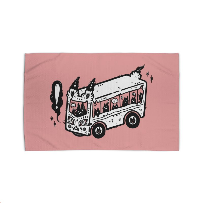 Silly bus (syllabus?), white background, no text Home Rug by Haypeep's Artist Shop