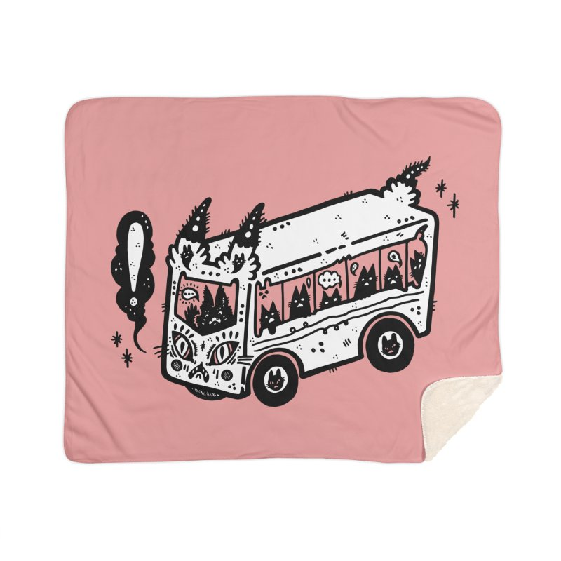 Silly bus (syllabus?), white background, no text Home Blanket by Haypeep's Artist Shop