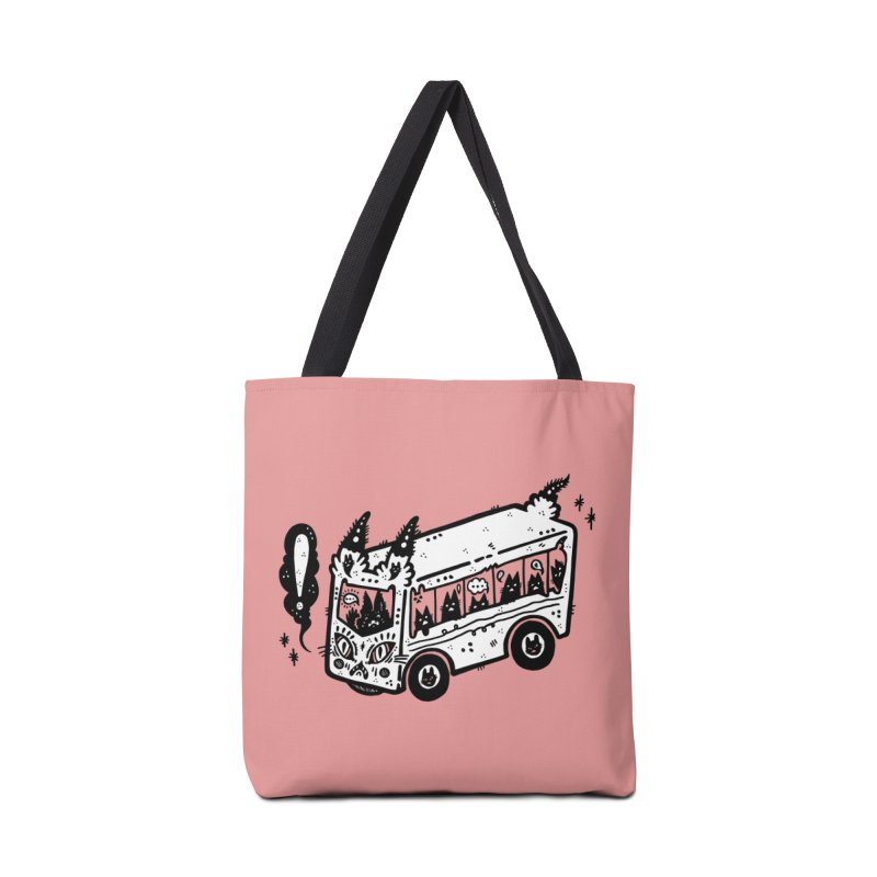 Silly bus (syllabus?), white background, no text Accessories Bag by Haypeep's Artist Shop
