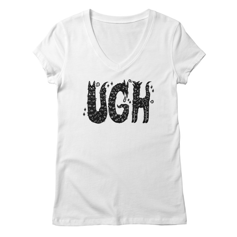 UGH Women's Regular V-Neck by Haypeep's Artist Shop