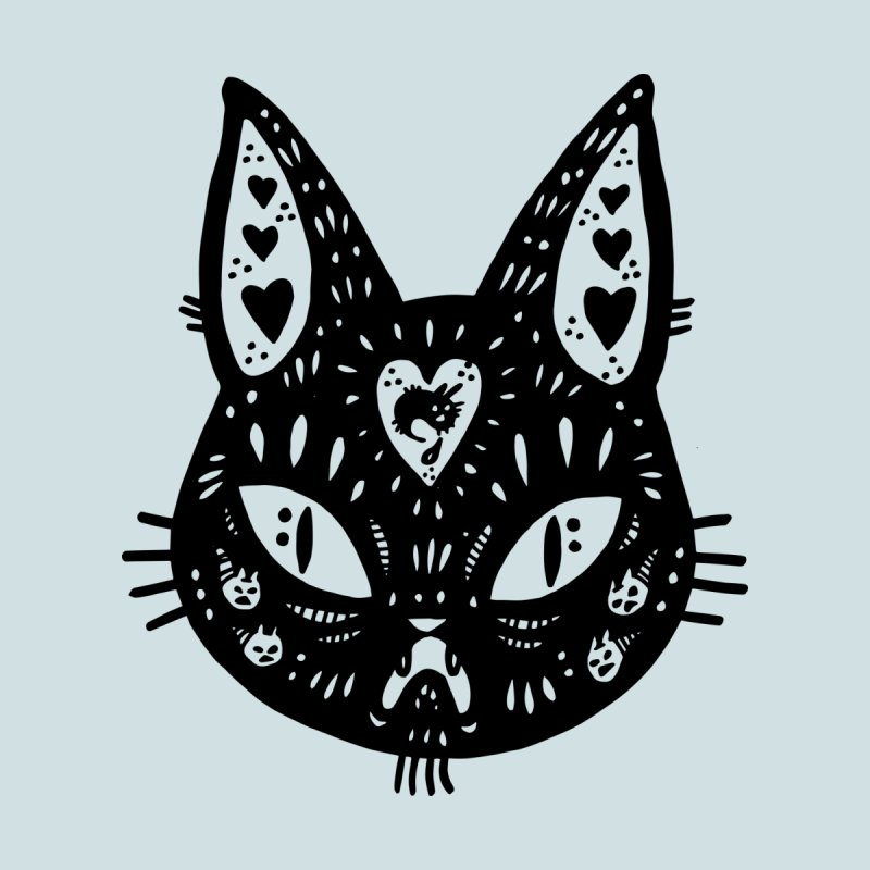 Cat face (with hearts) by Haypeep's Artist Shop