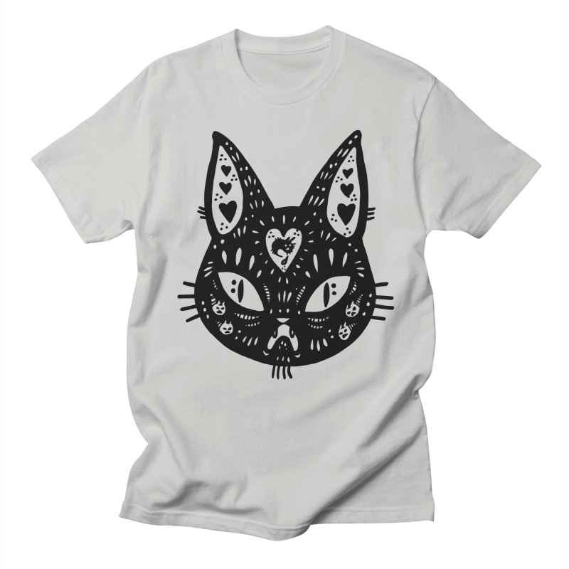 Cat face (with hearts) Women's Regular Unisex T-Shirt by Haypeep's Artist Shop